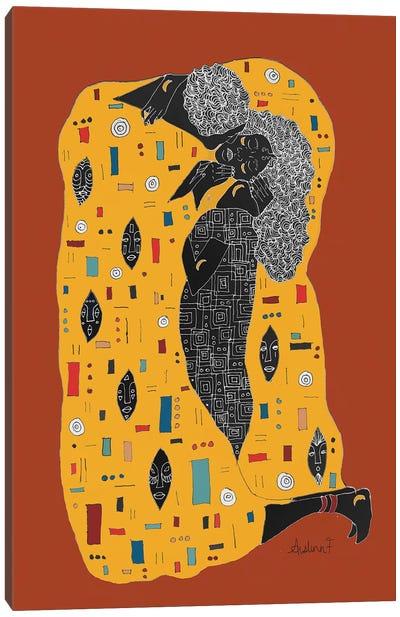 Klimt Noir - Brown Canvas Art Print