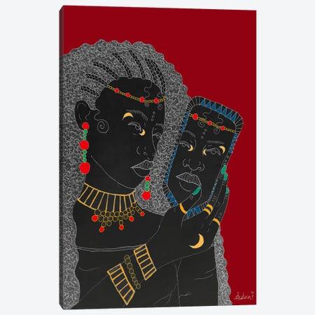 Self-Care - Red Canvas Print #AIF38} by Aislinn Finnegan Canvas Wall Art