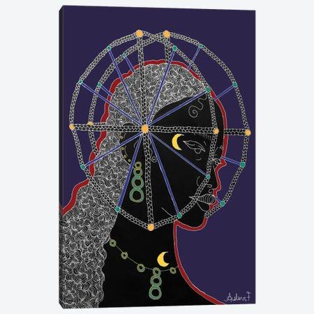 Nobility -Blue Canvas Print #AIF46} by Aislinn Finnegan Canvas Artwork