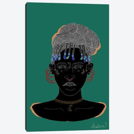 Be Wary - Green Canvas Print #AIF6} by Aislinn Finnegan Canvas Artwork