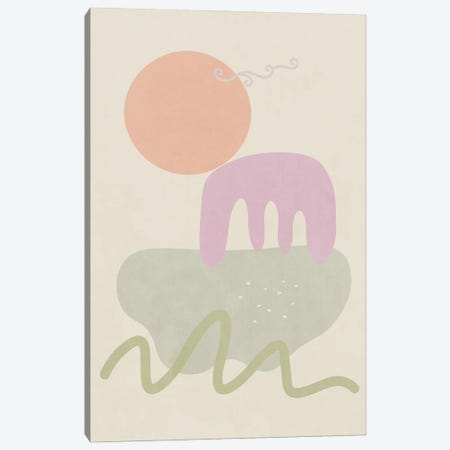 Landscape Shapes IV Canvas Print #AII102} by amini54 Canvas Wall Art