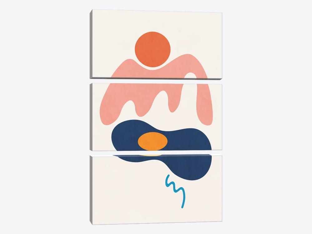 Island Shapes VII by amini54 3-piece Canvas Artwork