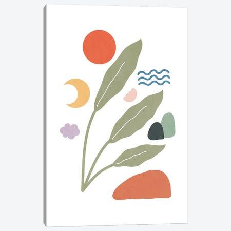 Tropical Foliage Shapes XXIX Canvas Print #AII122} by amini54 Canvas Artwork