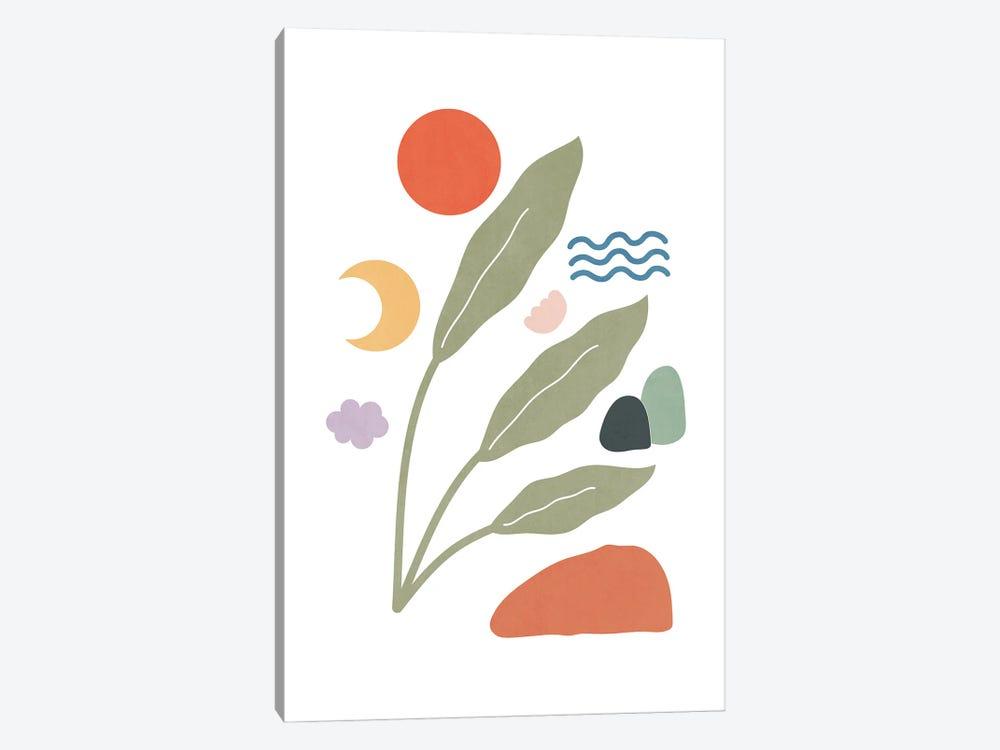 Tropical Foliage Shapes XXIX by amini54 1-piece Art Print