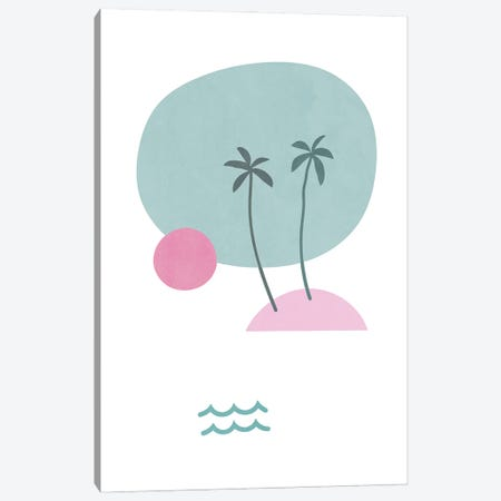 Tropical Paradise Shapes XXXII Canvas Print #AII123} by amini54 Canvas Wall Art