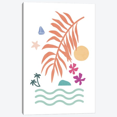 Tropical Foliage Shapes XXXV Canvas Print #AII125} by amini54 Canvas Print