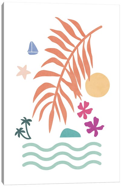 Tropical Foliage Shapes XXXV Canvas Art Print