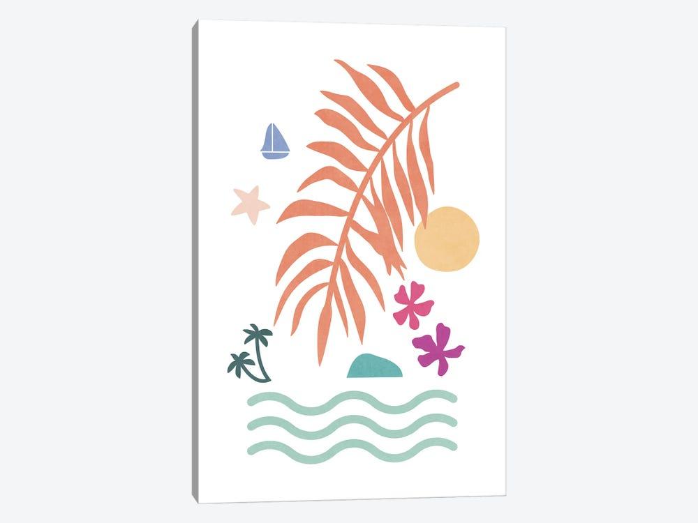 Tropical Foliage Shapes XXXV by amini54 1-piece Canvas Wall Art
