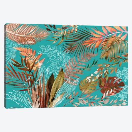 Tropical Foliage VIII Canvas Print #AII132} by amini54 Canvas Print