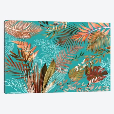 Tropical Foliage VIII Canvas Print #AII132} by amini54 Canvas Print
