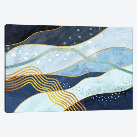 Waves V Canvas Print #AII141} by amini54 Canvas Art