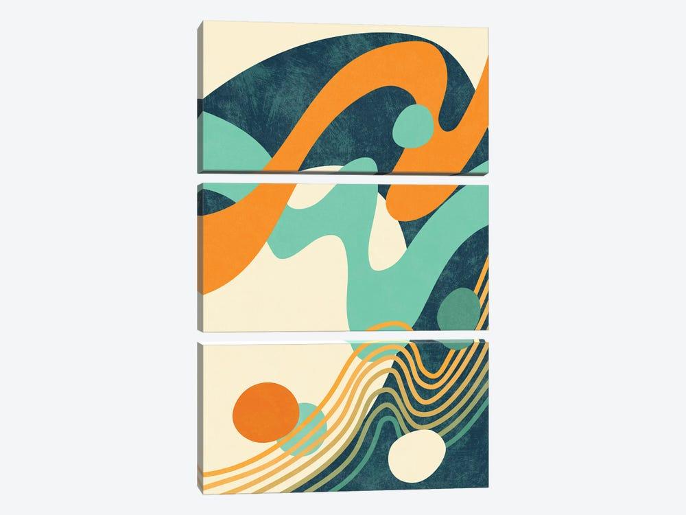 Waves II by amini54 3-piece Canvas Art