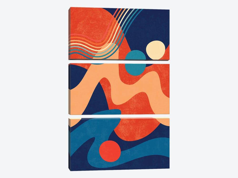 Waves IV by amini54 3-piece Canvas Art