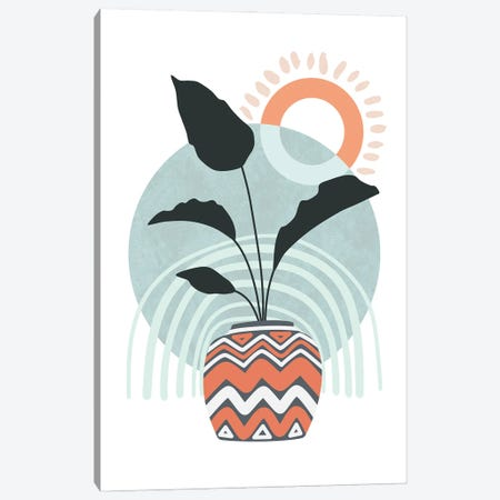 Tropical Villa V Canvas Print #AII167} by amini54 Art Print