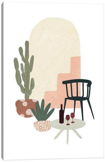 Tropical Villa VIII Canvas Art Print