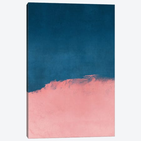 Minimal Landscape Pink and Navy Blue I Canvas Print #AII19} by amini54 Canvas Print