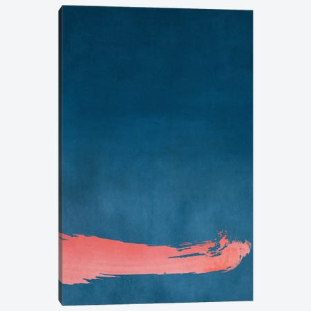 Minimal Landscape Pink and Navy Blue III Canvas Print #AII21} by amini54 Canvas Wall Art