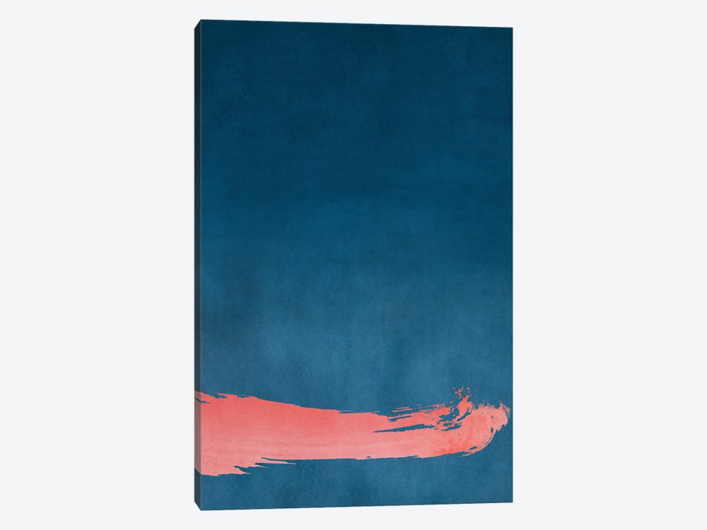 Minimal Landscape Pink and Navy Blue III by amini54 1-piece Canvas Art