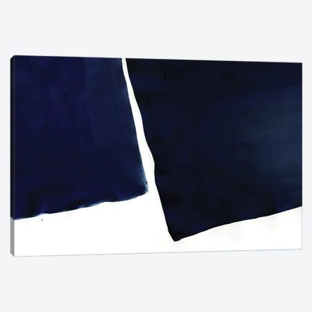 Minimal Navy Blue Abstract I Canvas Print #AII22} by amini54 Canvas Artwork