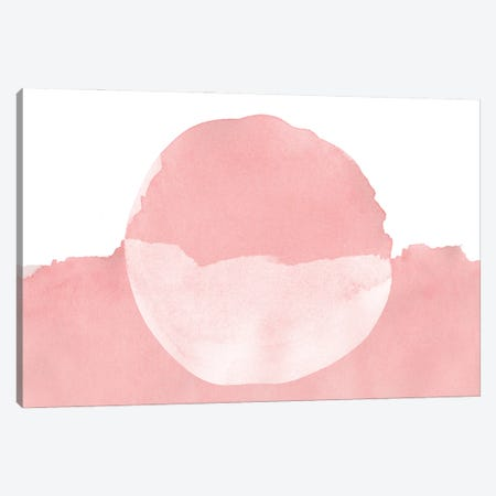 Minimal Pink Abstract VIII Canvas Print #AII26} by amini54 Canvas Art Print