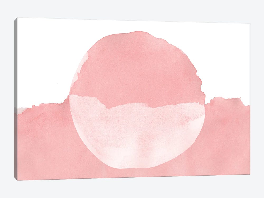 Minimal Pink Abstract VIII by amini54 1-piece Art Print