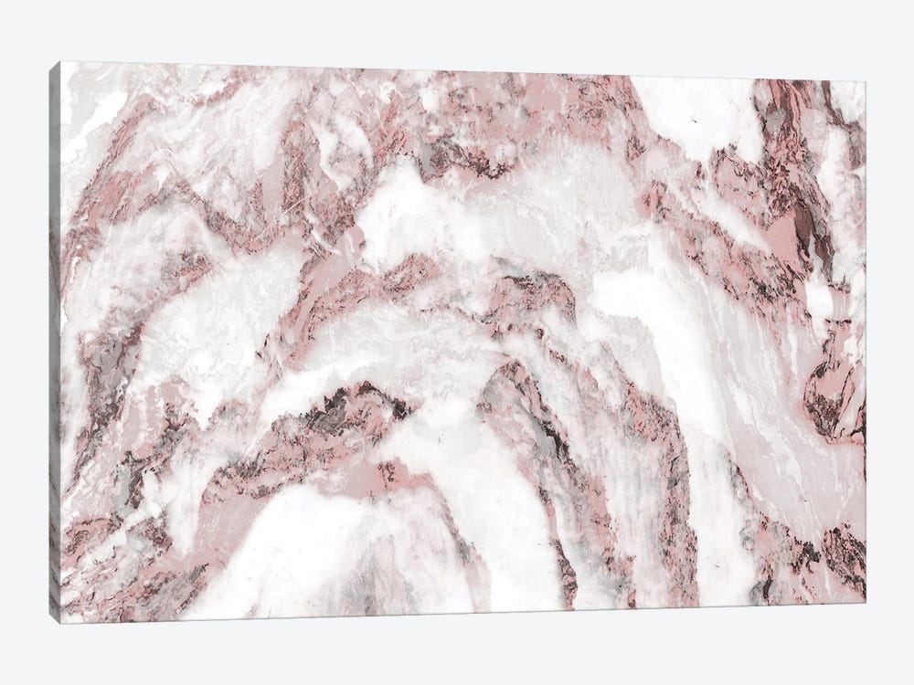 White and Pink Marble Mountain II by amini54 1-piece Canvas Wall Art