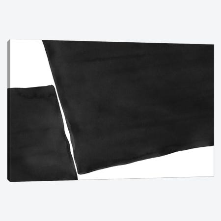 Minimal Black and White Abstract III Canvas Print #AII46} by amini54 Canvas Print