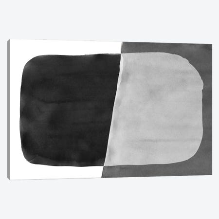 Minimal Black and White Abstract VI Brushstroke Canvas Print #AII47} by amini54 Art Print