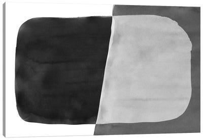 Minimal Black and White Abstract VI Brushstroke Canvas Art Print