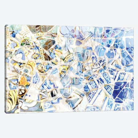 Mosaic of Barcelona I Canvas Print #AII59} by amini54 Canvas Art Print
