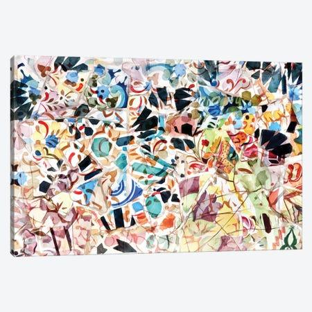 Mosaic of Barcelona VI Canvas Print #AII63} by amini54 Canvas Wall Art