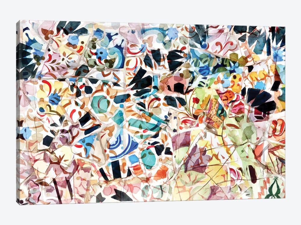 Mosaic of Barcelona VI by amini54 1-piece Canvas Artwork