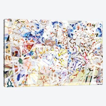 Mosaic of Barcelona VIII Canvas Print #AII65} by amini54 Art Print