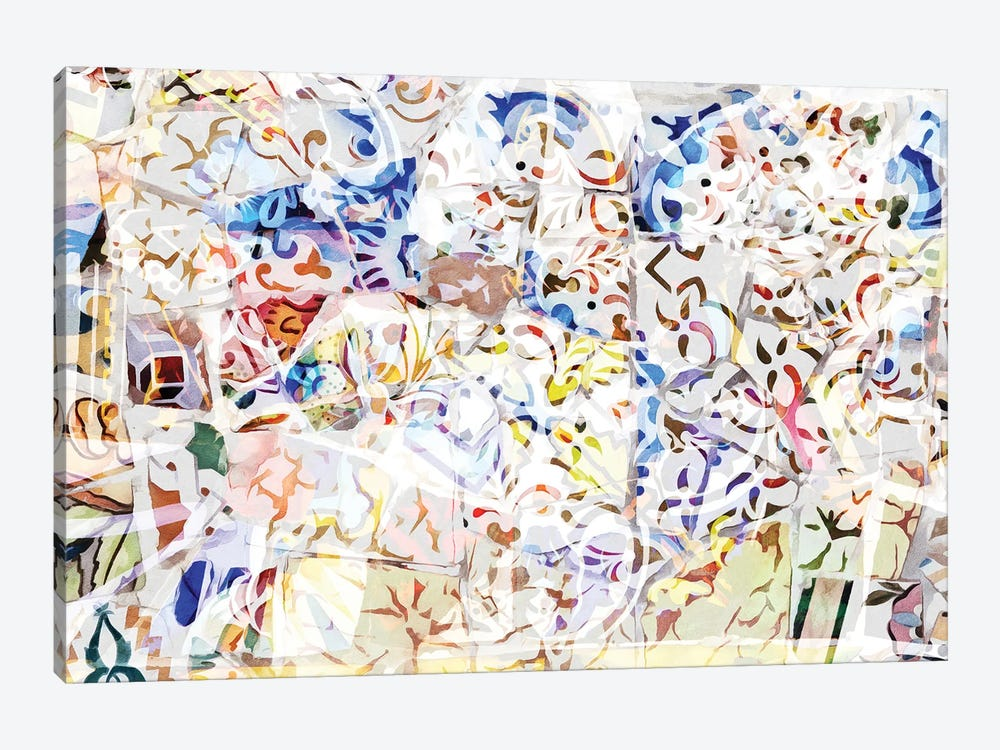 Mosaic of Barcelona VIII by amini54 1-piece Canvas Art