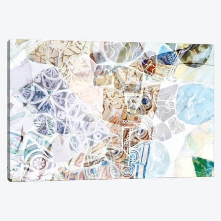 Mosaic of Barcelona IX Canvas Print #AII66} by amini54 Art Print