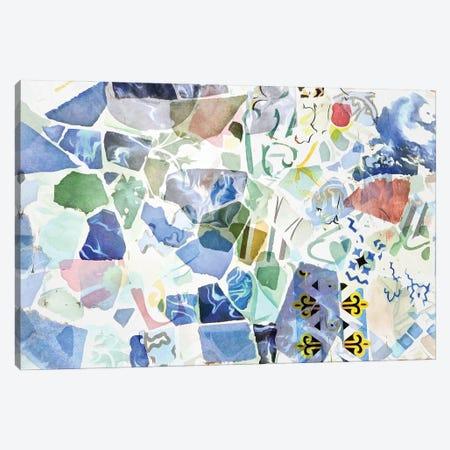 Mosaic of Barcelona X Canvas Print #AII67} by amini54 Canvas Art Print