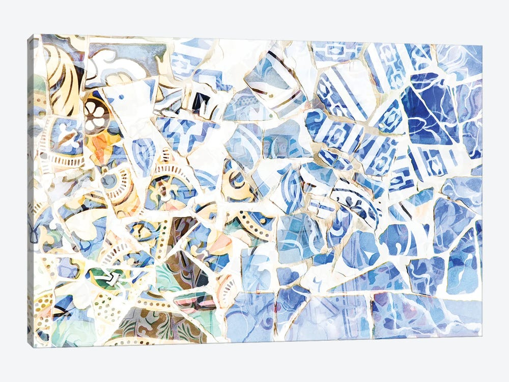 Mosaic of Barcelona XII by amini54 1-piece Canvas Artwork