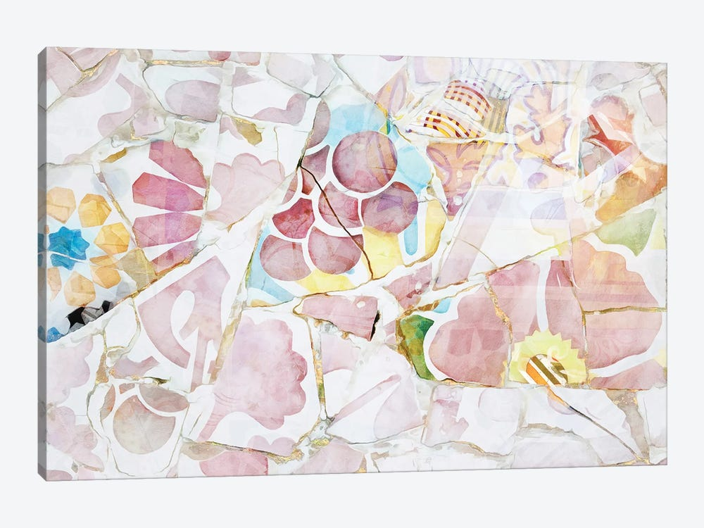 Mosaic of Barcelona XIV by amini54 1-piece Canvas Art Print