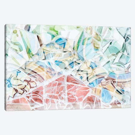 Mosaic of Barcelona XVI Canvas Print #AII73} by amini54 Canvas Art Print
