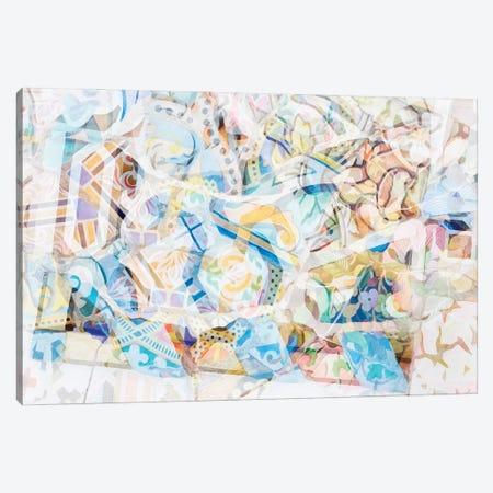 Mosaic of Barcelona XVII Canvas Print #AII74} by amini54 Canvas Artwork