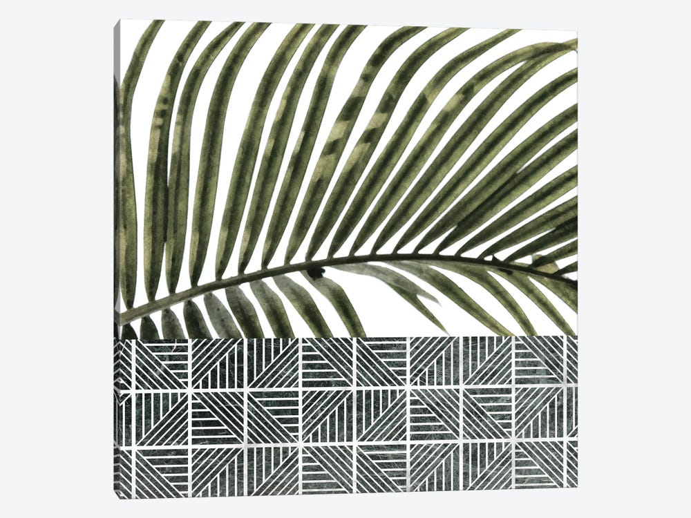 Palm Leaves on White Wall and Ceramic by amini54 1-piece Canvas Wall Art