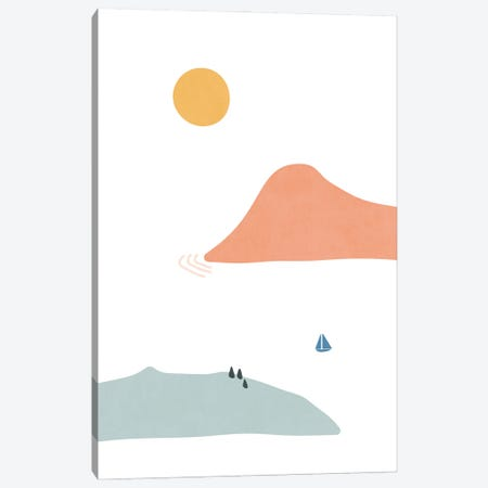 Island Shapes XXXIII Canvas Print #AII94} by amini54 Canvas Wall Art