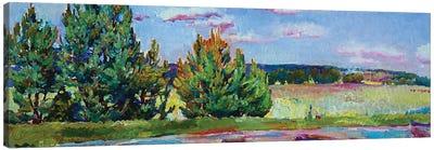 Landscape With Pines Canvas Art Print