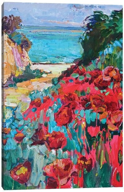 Red Poppy Flowers Canvas Art Print