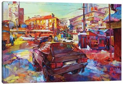 Multicolored Traffic Movement Canvas Art Print