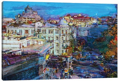 Autumn Cityscape Canvas Art Print