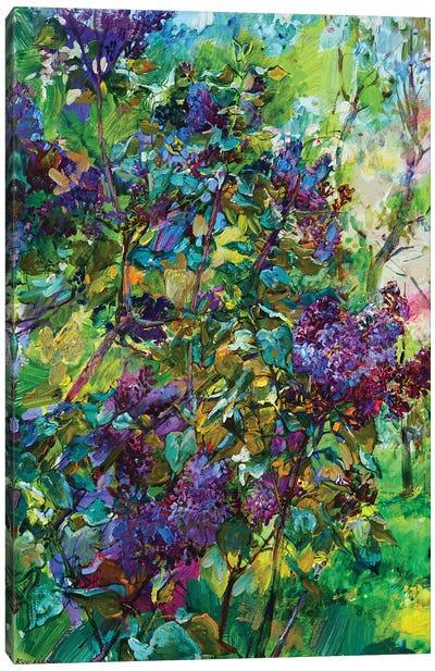 Lilac Flowers Canvas Art Print