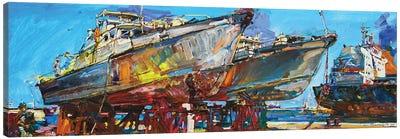 Ships Under Repair Canvas Art Print