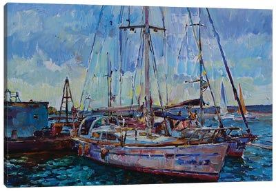 Sunlit Yachts Canvas Art Print