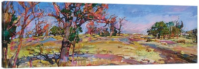 Autumn In The Steppe Canvas Art Print